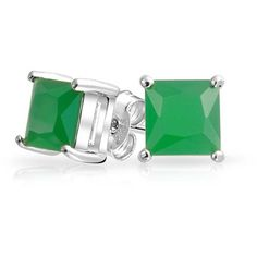 Bling Jewelry Bling Jewelry 925 Sterling Princess Cut Color Cz Stud... ($20) ❤ liked on Polyvore featuring jewelry, earrings, green, cubic zirconia jewelry, princess cut earrings, princess cut cz earrings, birthday jewelry and cubic zirconia earrings