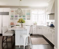 Kitchen with Corner Farmhouse Sink, Transitional, Kitchen