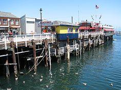 Fishermans Wharf, Monterey, California, USA, 6/2007 via SteveT Panaramio  Lived near here while husband stationed at Ft. Ord