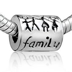 Pugster Family Charm Bead Fits Pandora Charm Bracelet