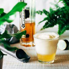 St. Germain Ice Cream Float Recipe Desserts, Beverages with elderflower liqueur, lemon juice, carbonated water, vanilla ice cream