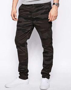 ASOS   Skinny Chinos In Overdyed Camo #asos #camo #chino #pants