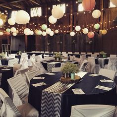Navy Mint And Chevron Wedding At Danceland Clear Lake Pop Of C