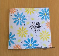 Summer blooms card... Scrap, Bloom, Crafty, Garden, Summer, How To Make, Garten, Summer Time, Lawn And Garden