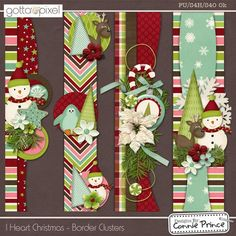 I Heart Christmas - Border Clusters