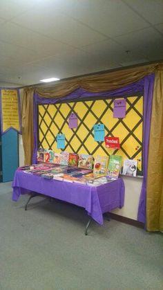 Sir Read-a-Lot Book Fair--teacher wish list backdrop full view