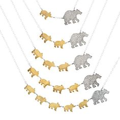 MAMA BEAR NECKLACES would make a great gift for any mama bear