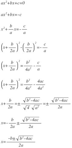 Quadratic formula derived...