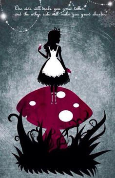 Alice in Wonderland quote and character illustration via www.Facebook.com/HattersParty