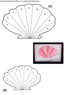 Home : Iris Folding : Various : Sea Shell Iris Folding Pattern