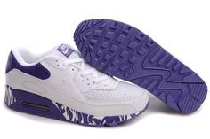 26d3c7163fb10b Prix pas cher France Nike Air Max 90 Chaussures Homme Blanche Pourpre  Soldes 2014