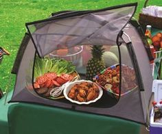 Dura-Tent Outdoor Table Top Food Screen - Picnic Size from Duratent - GimmeZat Cooking Gadgets, Cooking Recipes, Bbq Supplies, Outdoor Table Tops, Picnic Style, Supply List, Shark Tank, Cool Kitchens