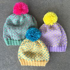 Free Pattern. I am a huge fan of neon – in small doses! I think I found the perfect balance in these freckled hats. They are such a fun knit that brings out the sunshine in even the most dreary of days. Add a little brightness to your life and find your favorite color combination with the Jill beanie!