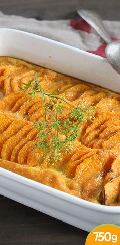 Gratin de patate douce aux épices
