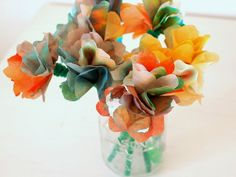 Easy to make coffee filter flowers