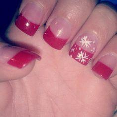 Christmas Nail Art Ideas 2013: Red Christmas Nail Art Ideas ~ Nail Art Inspiration