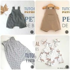 Salopette Per Bambini – Cartamodelli Gra Baby Sewing Tutorials, Toddler Sewing Patterns, Dress Sewing Patterns, Sewing For Kids, Baby Patterns, Sewing Projects, Baby Outfits, Kids Outfits, Sewing Clothes