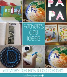 Father's Day ideas for kids to do for Dad -- this is a GREAT group of gift ideas that will inspire your kids to celebrate their dad
