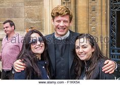 Cambridge, England, 3 September 2015. James Norton and Robson Green filming for the TV series Grantchester in Senate - Stock Photo
