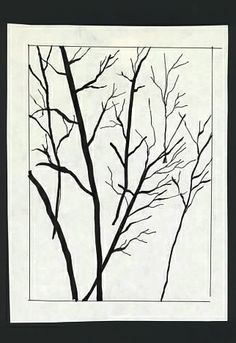 Wisconsin Trees in Winter - Pen and ink. Kewords: nature, lines.
