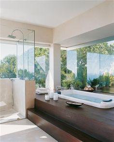 Un gran baño en medio del bosque · ElMueble.com · Cocinas y baños