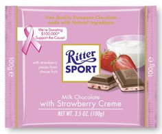 It's summer all year round with Ritter Sport Strawberry Yogurt. Enjoy plenty of real fruit pieces, strawberry yogurt mousse and crunchy rice crisps. A refreshing milk chocolate experience. Chocolate Candy Brands, Lindt Chocolate, Chocolate Spread, German Chocolate, How To Make Chocolate, Delicious Chocolate, Candy Recipes, Gourmet Recipes, Chocolates
