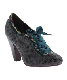 Black & Teal Backlash Leather Pump by Poetic Licence #zulily #zulilyfinds $69.99 down from $129.00