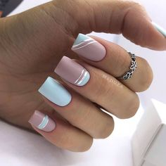 splendid matte nail design ideas try for you 5 Summer Acrylic Nails, Cute Acrylic Nails, Matte Nails, Gel Nails, Nagel Bling, Cute Spring Nails, Square Nail Designs, Gel Nagel Design, Short Nails Art
