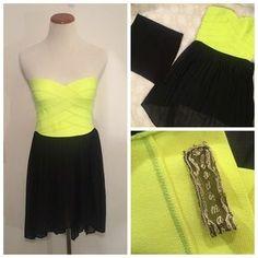 LF Dresses & Skirts - LF Lovemar Strapless Corset Dress Yellow/Black