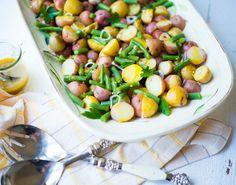 Honey-Mustard Green Bean Potato Salad. A delicious, healthy easy salad recipe.