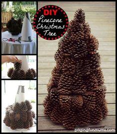 DIY Weihnachtsbaum-Bastelideen, Weihnachtsdeko mit Tannenzapfen Check more at http://diydekoideen.com/diy-weihnachtsbaum-bastelideen/