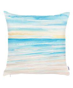 Sand & Sky Blue Throw Pillow