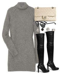 """""""Style #9378"""" by vany-alvarado ❤ liked on Polyvore featuring Michael Kors, Chanel, Stuart Weitzman and Christian Dior"""