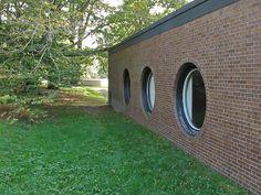 Philip Johnson Residence    Rear elevation of Brick House    Philip Johnson, architect  1949-50