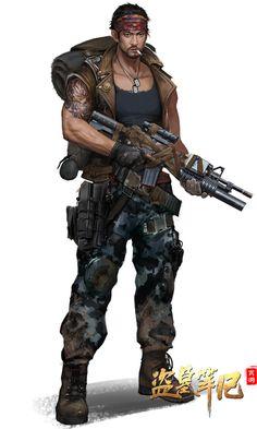 Glen Davis - Lieutenant of Scavengers Post Apocalypse, Apocalypse Survivor, Cyberpunk Character, Cyberpunk Art, Character Concept, Character Art, Concept Art, Gangsters, Apocalypse Character
