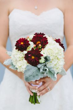 Wedding Bouquet | New Hampshire Wedding at LaBelle Winery from Mary Costa Photography  | Read more - http://www.stylemepretty.com/new-hampshire-weddings/amherst/2013/11/29/new-hampshire-wedding-at-labelle-winery-from-mary-costa-photography/