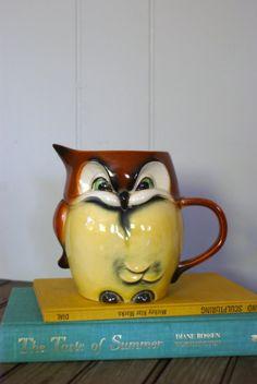 Vintage Ceramic Goebel Owl Pitcher by retrotreasurehunters on Etsy, $48.00