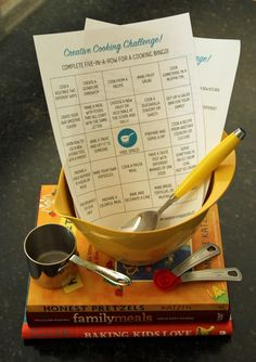Free printable Creative Cooking Challenge for kids - perfect summer activity!