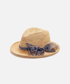 Шляпа из рафии с лентой - OYSHO