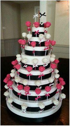 Cakepops toren #weddingpops #roses #iluvcakepops