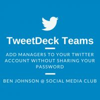 "TweetDeck Teams by Ben Johnson on March 1, 2015 in from the clubhouse ""What's the best way to give Twitter account access to the rest of my team?""  - See more at: http://socialmediaclub.org/blogs/from-the-clubhouse/tweetdeck-teams#sthash.ZpHF4iUx.dpuf"