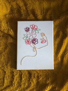 Easy Canvas Art, Simple Canvas Paintings, Mini Canvas Art, Bordados Tambour, Art Sur Toile, Outline Art, Hand Embroidery Art, Abstract Line Art, Sewing Art