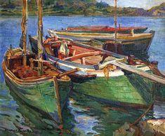 OSWALDO TEIXEIRA - Barcos Óleo sobre tela - 46 x 55,3 - Década de 1940