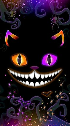 - *)Bling My Walls with Samhain(* -Wallpaper . - *)Bling My Walls with Samhain(* - Latest Happy Halloween Wallpaper And Quotes Halloween Wallpaper Iphone, Holiday Wallpaper, Fall Wallpaper, Halloween Backgrounds, Disney Wallpaper, Wallpaper Backgrounds, Cheshire Cat Alice In Wonderland, Alice In Wonderland Drawings, Fröhliches Halloween