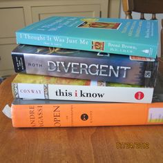 When she's not coordinating reading endorsement programs, writing, teaching or parenting, Andie Cunningham is planning what to read next:  I Thought It Was Just Me (but it isn't) by Brene Brown  Divergent by Veronica Roth  this i know by Susannah Conway  Open by Andre Agassi
