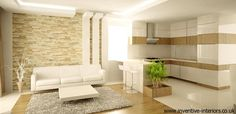 open living room kitchen - Google Search