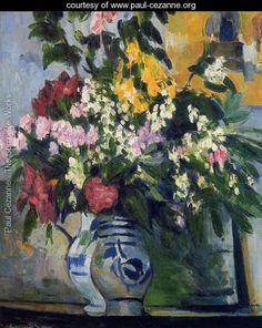 Two Vases Of Flowers - Paul Cezanne - www.paul-cezanne.org