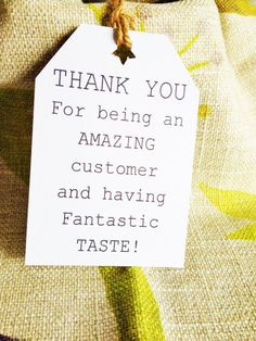 Thank you Tags  Thank you card  Message Tags  by WhataQuirky