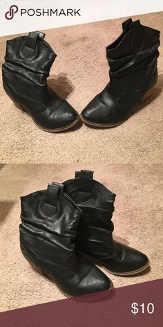 Black cowgirl boots! Perfect for Halloween! Well worn but still a lot of life left in them! Shoes Ankle Boots & Booties