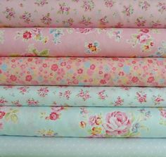 Antique Flower Pastel Half Yard Bundle, $35.25 telas hermosas